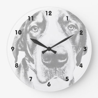 Greater Swiss Mountain Dog Large Clock