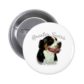 Greater Swiss Mountain Dog Mom 2 Button