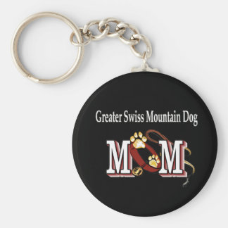 Greater Swiss Mountain Dog MOM Gifts Basic Round Button Keychain