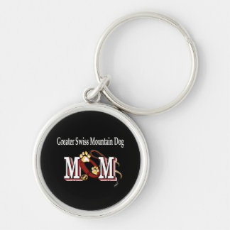 Greater Swiss Mountain Dog Mom Gifts Silver-Colored Round Keychain