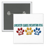 GREATER SWISS MOUNTAIN DOG Mom Paw Print 1 Button
