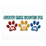 GREATER SWISS MOUNTAIN DOG Mom Paw Print 1 Postcards
