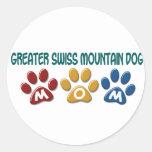 GREATER SWISS MOUNTAIN DOG Mom Paw Print 1 Sticker