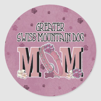 Greater Swiss Mountain Dog MOM Round Stickers