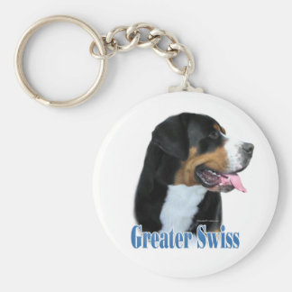 Greater Swiss Mountain Dog Name Basic Round Button Keychain