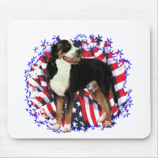 Greater Swiss Mountain Dog Patriot Mouse Pads