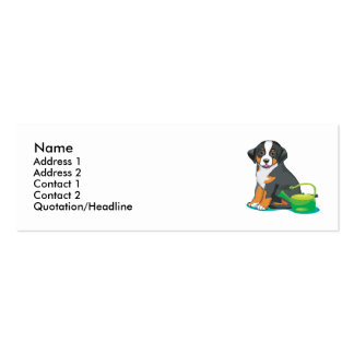 Greater Swiss Mountain Dog Puppy Business Card Template