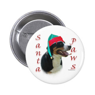 Greater Swiss Mountain Dog Santa Paws Button
