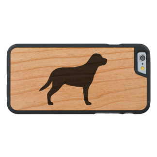 Greater Swiss Mountain Dog Silhouette Carved Cherry iPhone 6 Slim Case