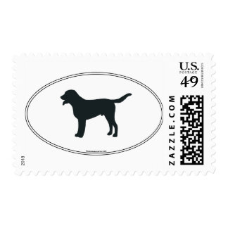 Greater Swiss Mountain Dog Silhouette Postage
