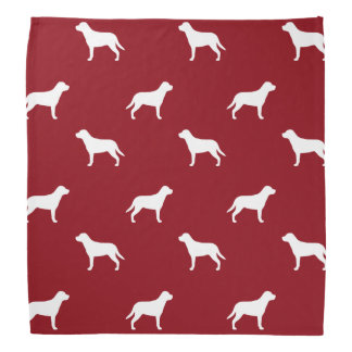 Greater Swiss Mountain Dog Silhouettes Pattern Bandana