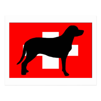 greater swiss mountain dog silo flag switzerland f postcard