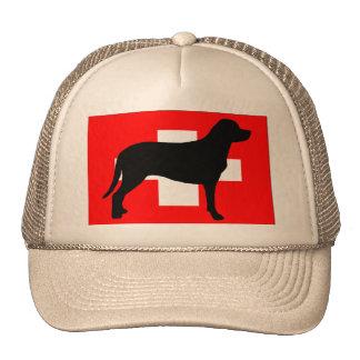 greater swiss mountain dog silo flag switzerland f trucker hat