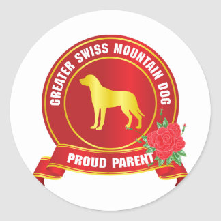 Greater Swiss Mountain Dog Round Stickers