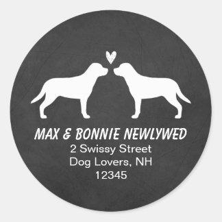 Greater Swiss Mountain Dogs Return Address Classic Round Sticker