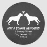 Greater Swiss Mountain Dogs Return Address Round Stickers