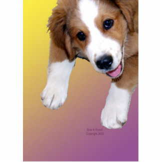 Greater Swiss St. Bernard smiling rescue dog pin Statuette