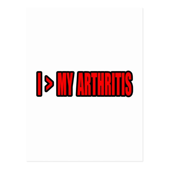 Greater Than My Arthritis Postcard