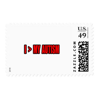 Greater Than My Autism Postage