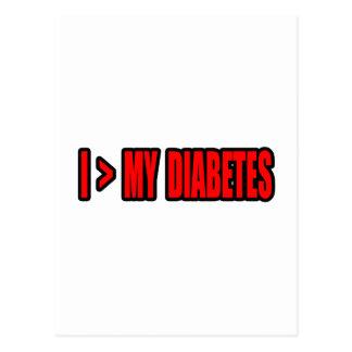 Greater Than My Diabetes Postcard