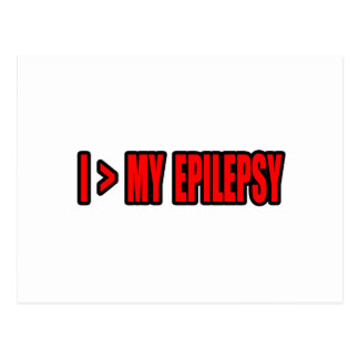 Greater Than My Epilepsy Postcard