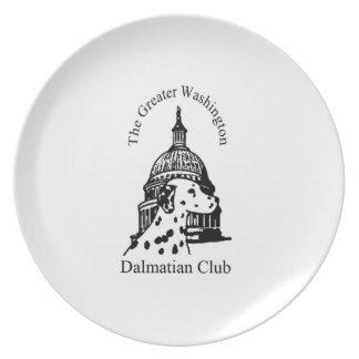 Greater Washington Dalmatian Club Logo Dinner Plate