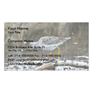 Greater Yellowlegs Double-Sided Standard Business Cards (Pack Of 100)