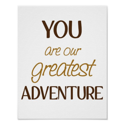 Greatest Adventure B is for Bear Art Poster