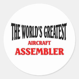 Greatest Aircraft Assembler Classic Round Sticker