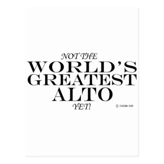 Greatest Alto Yet Postcard