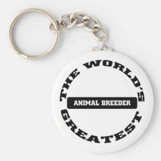Greatest Animal Breeder Keychain