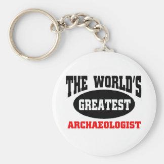 Greatest Archaeologist Basic Round Button Keychain