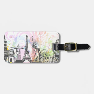 Greatest architectural buildings tags for luggage