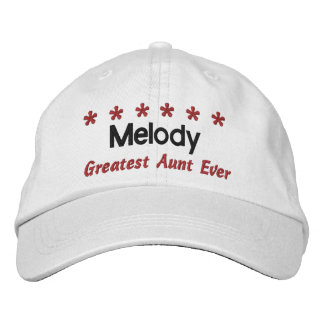 Greatest Aunt Ever 6 Stars Custom Name WHITE V01 Baseball Cap