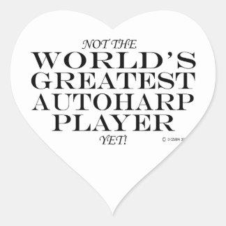 Greatest Autoharp Player Yet Heart Sticker