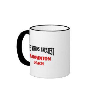 Greatest Badminton Coach Ringer Mug