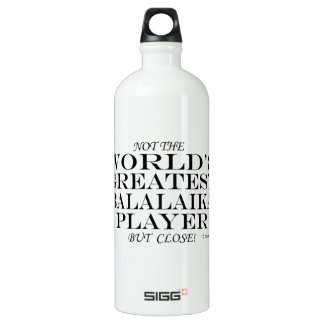 Greatest Balalaika Player Close Aluminum Water Bottle