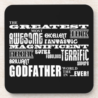 Greatest Best Godfathers Birthdays Christmas Coasters