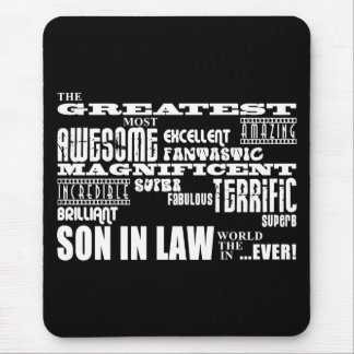 Greatest Best Sons in Law Birthday & Wedding Party Mouse Pad