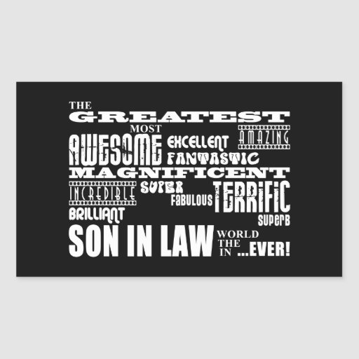 Greatest Best Sons in Law Birthday & Wedding Party Stickers