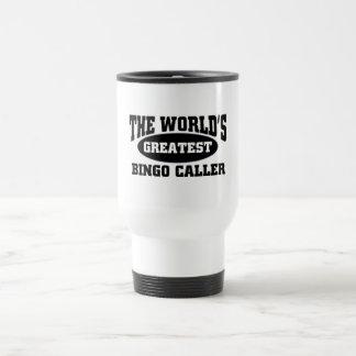 Greatest Bingo Caller 15 Oz Stainless Steel Travel Mug