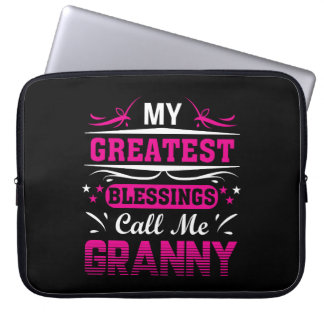 Greatest Blessing Call Me Granny Granny Laptop Sleeve