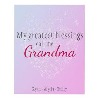 Greatest Blessings -Grandma Panel Wall Art