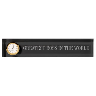 Greatest Boss Desk Name Plate