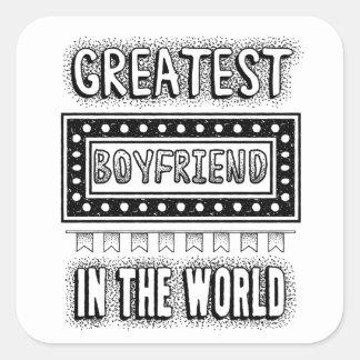 Greatest boyfriend in the world Valentine's Day Square Sticker