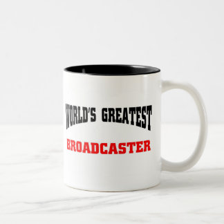 Greatest Broadcaster Two-Tone Coffee Mug