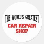Greatest Car Repair Shop Classic Round Sticker