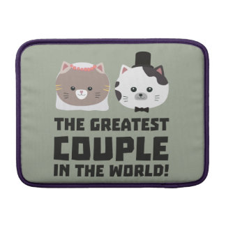 Greatest Cat Couple in the world Zd2n1 MacBook Sleeve
