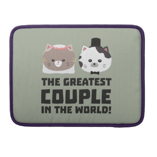 Greatest Cat Couple in the world Zd2n1 Sleeve For MacBook Pro