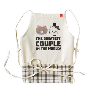Greatest Cat Couple in the world Zd2n1 Zazzle HEART Apron